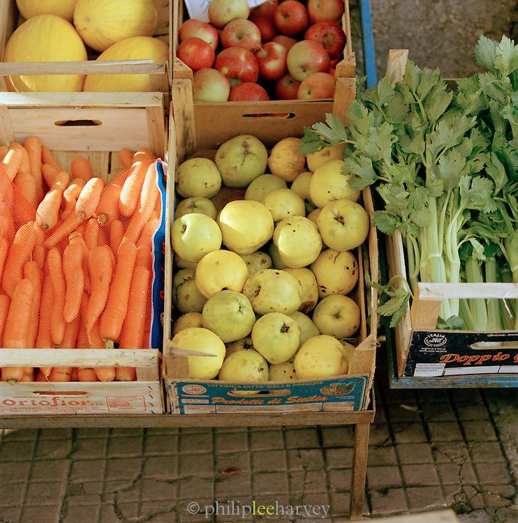 Vegatable market stall, Puglia, Italy