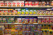 Cereal at the Famila supermarket near Bargteheide, Germany. (Supporting image from the project Hungry Planet: What the World Eats.)