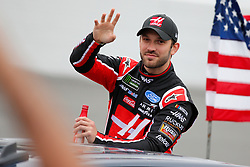 February 10, 2019 - Daytona, FL, U.S. - DAYTONA, FL - FEBRUARY 10: Daniel Suarez, driver of the #41 Haas Automation Ford, waves during the Advance Auto Parts Clash on February 10, 2019 at Daytona International Speedway in Daytona Beach, FL. (Photo by David Rosenblum/Icon Sportswire) (Credit Image: © David Rosenblum/Icon SMI via ZUMA Press)