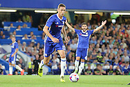 Chelsea midfielder Nemanja Matic (21) dribbling during the EFL Cup match between Chelsea and Bristol Rovers at Stamford Bridge, London, England on 23 August 2016. Photo by Matthew Redman.