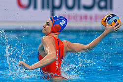 Maud Megens #2of Netherlands during the semi final Netherlands vs Russia on LEN European Aquatics Waterpolo January 23, 2020 in Duna Arena in Budapest, Hungary