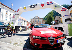 Start before 2nd stage of Tour de Slovenie 2009 from Kamnik to Ljubljana, 146 km, on June 19 2009, Slovenia. (Photo by Vid Ponikvar / Sportida)
