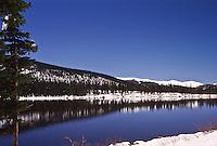 First snow of the autumn season at Echo Lake, Colorado.