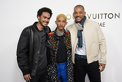 Jaden Smith, Will Smith attending the Opening Of The Louis Vuitton Boutique as part of the Paris Fashion Week Womenswear Spring/Summer 2018 in Paris, France, on October 2, 2017. Photo by Alban Wyters/ABACAPRESS.COM