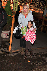 ANNEKA RICE and ? at the opening of the 2012 Winter Wonderland, Hyde Park on 22nd November 2012.