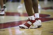 LeBron James of Cleveland and his Nike shoes..The Miami Heat lost to the host Cleveland Cavaliers 84-76 at Quicken Loans Arena, April 13, 2008...