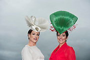 30/07/2015 report free : Winners Announced in Kilkenny Best Dressed Lady, Kilkenny Best Irish Design & Kilkenny Best Hat Competition at Galway Races Ladies Day <br /> At the event was Milliner Caitriona King from Corofin and Suzanne Burke from Athlone.<br /> Photo:Andrew Downes, xposure