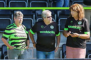 FGR supporters during the EFL Sky Bet League 2 match between Forest Green Rovers and Colchester United at the New Lawn, Forest Green, United Kingdom on 14 September 2019.