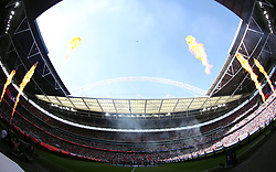 General view of Wembley Stadium during the Emirates FA Cup Final at Wembley Stadium, London.
