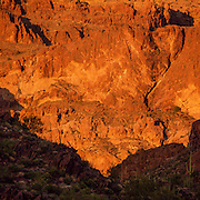 Sunset on the Ajo Mountains in Organ Pipe Cactus National Monument in the Sonoran Desert of Arizona