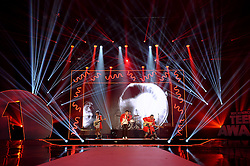 Cole Whittle, Joe Jonas, JinJoo Lee and Jack Lawless of DNCE on stage at the BBC Radio 1 Teen Awards, held at the SSE Wembley Arena, London.<br /> <br /> Picture date: Sunday, 23 October, 2016. Photo credit should: Doug PetersEMPICS Entertainment