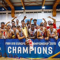 20190804: GRE, Basketball - FIBA U18 European Championship Volos 2019, Final, Spain vs Turkey