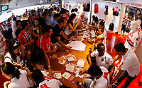 20091124: SAO PAULO, BRAZIL - Sao Paulo players sign autographs at Reebook store in Morumbi Stadium. In picture: Sao Paulo players with fans. PHOTO: CITYFILES