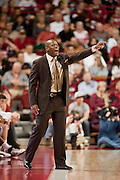 Nov 16, 2011; Fayetteville, AR, USA;   Arkansas Razorback head coach Mike Anderson calls a play on the sidelines during a game against the Oakland Grizzlies at Bud Walton Arena. Arkansas defeated Oakland 91-68. Mandatory Credit: Beth Hall-US PRESSWIRE