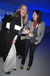 Left to right, models JODIE KIDD and JASMINE GUINNESS attending the Tag Heuer party where an exhibition of photographs by Mary McCartney celebrating 15 exception women from 15 countries was unveiled at the Royal College of Arts, Kensington Gore, London on 8th February 2007.<br /><br />NON EXCLUSIVE - WORLD RIGHTS
