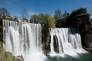 The historic town of Jajce in Bosnia and Herzegovina, where the River Pliva plunges more than 20m down a waterfall into the River Vrbas. © Rudolf Abraham
