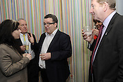CAITLIN MORAN; JIM MOWATT; TOM WATSON; LEN MCCULSKEY, The 2011 Groucho Club Maverick Award. The Groucho Club. Soho, London. 14 November 2011. <br /> <br />  , -DO NOT ARCHIVE-© Copyright Photograph by Dafydd Jones. 248 Clapham Rd. London SW9 0PZ. Tel 0207 820 0771. www.dafjones.com.