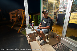 Jose DeMatos at his Channel Cottages during Laconia Motorcycle Week. Laconia, NH, USA. June 13, 2015.  Photography ©2015 Michael Lichter.