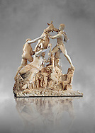 2nd century AD Roman marble sculpture known as the Farnese Bull from the Baths of Caracalla, Rome, Farnese Collection, Museum of Archaeology, Italy ..<br /> <br /> If you prefer to buy from our ALAMY STOCK LIBRARY page at https://www.alamy.com/portfolio/paul-williams-funkystock/greco-roman-sculptures.html . Type -    Naples    - into LOWER SEARCH WITHIN GALLERY box - Refine search by adding a subject, place, background colour, etc.<br /> <br /> Visit our ROMAN WORLD PHOTO COLLECTIONS for more photos to download or buy as wall art prints https://funkystock.photoshelter.com/gallery-collection/The-Romans-Art-Artefacts-Antiquities-Historic-Sites-Pictures-Images/C0000r2uLJJo9_s0