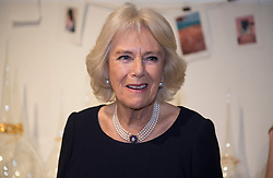The Duchess of Cornwall during a visit to London Fashion Week at the BFC Show Space, London.