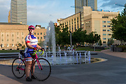 OKC bombing survivor Amy Downs bicycling portrait for Oklahoma Living.