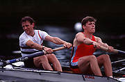 Henley on Thames. Henley. UK.  GBR M2-. Bow. Martin CROSS and Tim Foster   compete at the 2004 Henley Royal Regatta.  Finals day.  [Mandatory Credit Peter Spurrier/ Intersport Images] ...........Rowing Courses, Henley Reach, Henley, ENGLAND. HRR