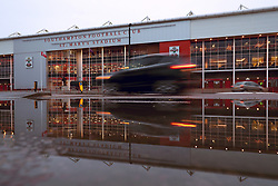 """Cars pass St Mary's Stadium ahead of the Premier League match between Southampton and Crystal Palace. PRESS ASSOCIATION Photo. Picture date: Tuesday January 2, 2018. See PA story SOCCER Southampton. Photo credit should read: Andrew Matthews/PA Wire. RESTRICTIONS: EDITORIAL USE ONLY No use with unauthorised audio, video, data, fixture lists, club/league logos or """"live"""" services. Online in-match use limited to 75 images, no video emulation. No use in betting, games or single club/league/player publications."""