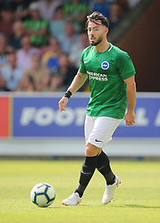 """Brightons Richie Towell during a pre season friendly match at The Cherry Red Records Stadium, Kingston Upon Thames. PRESS ASSOCIATION Photo. Picture date: Saturday July 21, 2018. Photo credit should read: Mark Kerton/PA Wire. EDITORIAL USE ONLY No use with unauthorised audio, video, data, fixture lists, club/league logos or """"live"""" services. Online in-match use limited to 75 images, no video emulation. No use in betting, games or single club/league/player publications."""