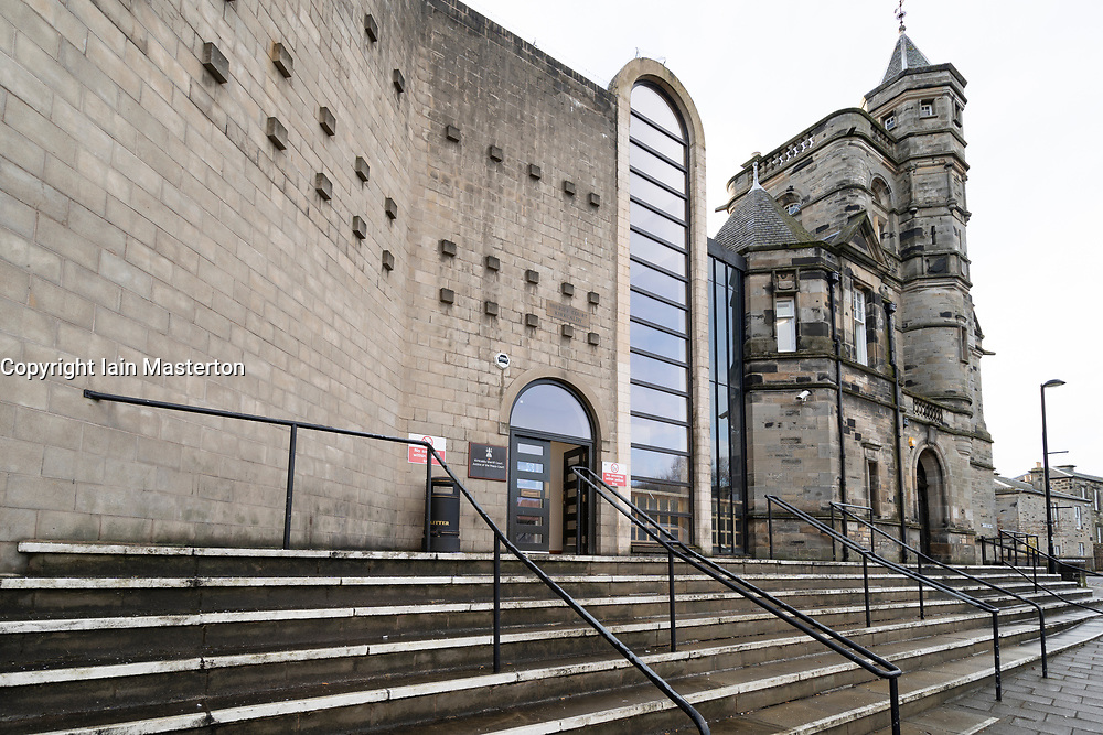 Exterior view of Kirkcaldy Sheriff Court in Kirkcaldy, Fife, Scotland, UK