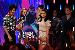 LOS ANGELES - AUGUST 13: The cast of 'RIVERDALE' accept the Choice Drama TV Show award onstage at FOX's 'Teen Choice 2017' at the Galen Center on August 13, 2017 in Los Angeles, California. (Photo by Frank Micelotta/FOX/PictureGroup) *** Please Use Credit from Credit Field ***