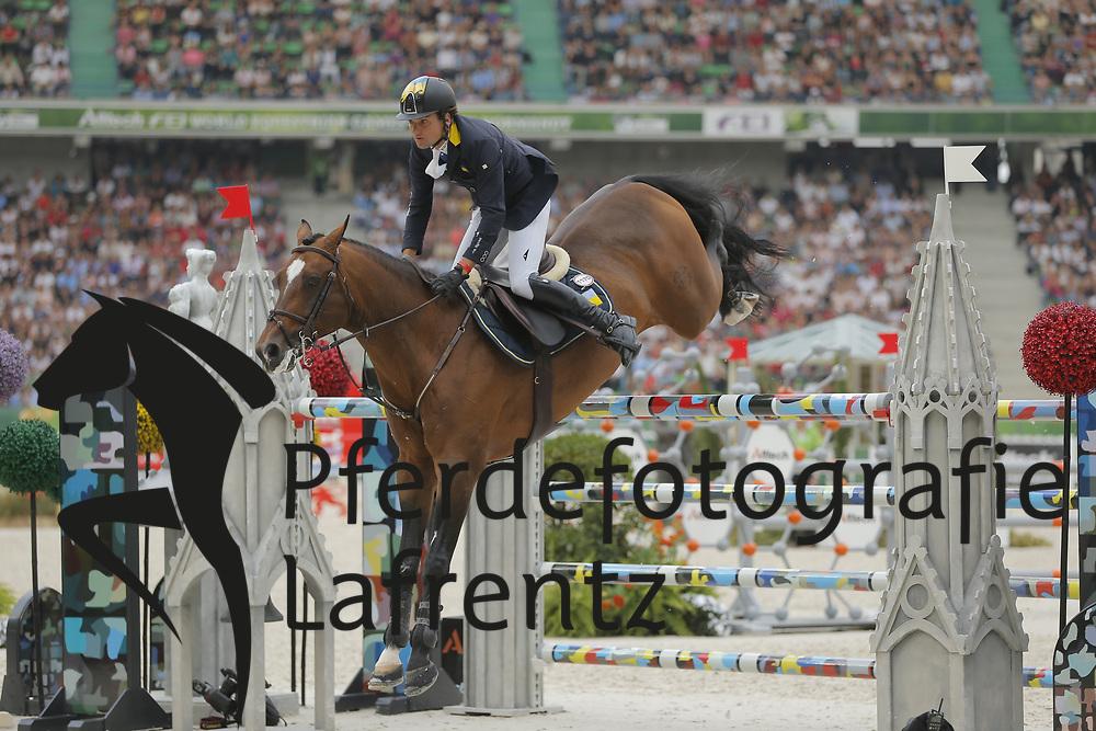 Rivetti, Cassio, Vivant<br /> Normandie - WEG 2014<br /> Springen - Finale III<br /> © www.sportfotos-lafrentz.de/ Stefan Lafrentz