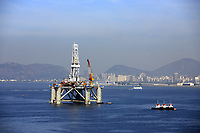 oil and gas platform in the bay of rio of janeiro in brazil