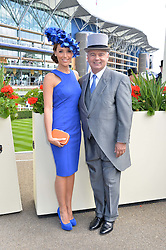 ISABEL WEBSTER and EAMONN HOLMES at the first day of the 2014 Royal Ascot Racing Festival, Ascot Racecourse, Ascot, Berkshire on 17th June 2014.