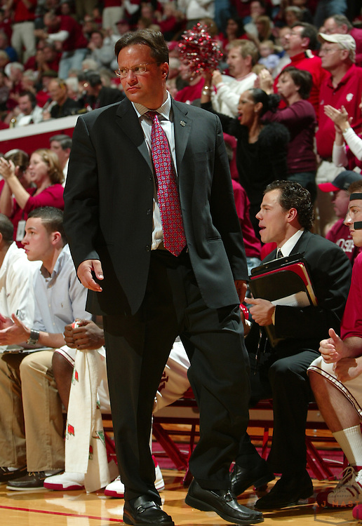 30 November 2008: Indiana head coach Tom Crean as the Indiana Hoosiers played the Cornell Big Reds in a college basketball game in Bloomington, Ind.