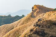 Locals resting on top of the Reiek mountains, Mizoram, India