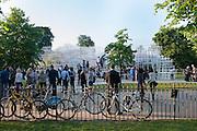 BICYCLES, Private view, Serpentine Gallery Pavilion 2013. Designed by Sou Fujimoto. Kensington Gardens. 6 June 2013.