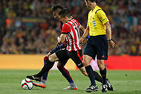 Barcelona´s Neymar Jr (L) and Athletic de Bilbao´s Unai Bustinza during 2014-15 Copa del Rey final match between Barcelona and Athletic de Bilbao at Camp Nou stadium in Barcelona, Spain. May 30, 2015. (ALTERPHOTOS/Victor Blanco)