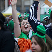 Thousands attends the London's St Patrick's Day 2017 in Trafalgar Square on 19th March 2017. by See Li