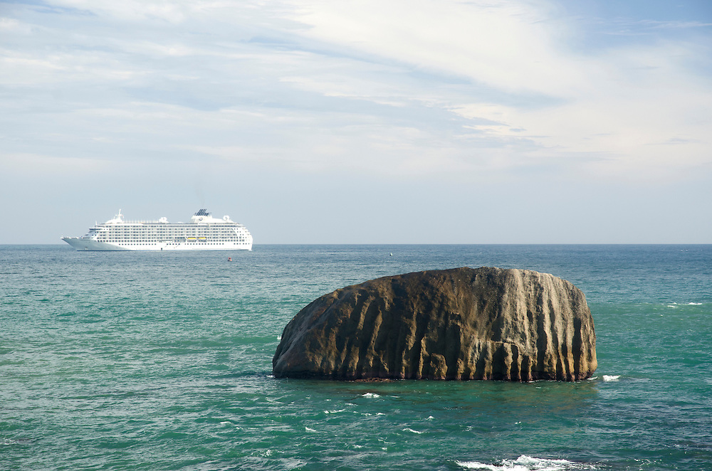 Cruise ship near Galle Fort, Sri Lanka