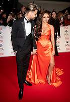 Chris Hughes and Jesy Nelson at the 25th National Television Awards, Arrivals, O2, London, UK 28 Jan 2020  photos by Brian Jordan