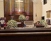 July 25, Selma Alabama  Congressman and Civil Rights icon John Lewis's casket is seen being carried out of historic  Brown Chapel A.M.E. Church at the end of the last public viewing with the casket open before he is brought across the Edmund Pettus Bridge for the last time on his way to lay in state at the Alabama. State Capitol on Sunday.. Photo© Suzi Altman