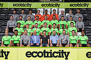 Forest Green Rovers 1st team squad photo 2018/19 with sponsors Eesi during the 2018/19 official team photocall for Forest Green Rovers at the New Lawn, Forest Green, United Kingdom on 30 July 2018. Picture by Shane Healey.