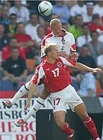 Fotball, 17. juni 2004, EM, Euro 2004, Sveits- England, Christoph SPYCHER, Sveits , David BECKHAM England<br /> Foto: Digitalsport