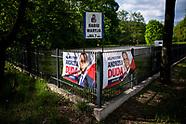 Plakat wyborczy Andrzeja Dudy i reklama Radia Maryja