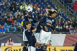 May 12, 2018 - Foxborough, Massachusetts - May 12, 2018:  The New England Revolution (blue/white) beat the Toronto FC (red) 3-2 in a Major League Soccer (MLS) match at Gillette Stadium. (Credit Image: © Tim Bouwer/ISIPhotos via ZUMA Wire)