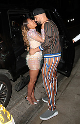 Mel B passionately kisses her boyfriend, Gary Madatyan as they left Simon Cowell's party at Ago restaurant , in West Hollywood. 22 Aug 2018 Pictured: Mel B, Gary Madatyan. Photo credit: LIROPE / MEGA TheMegaAgency.com +1 888 505 6342