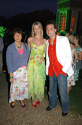 Left to right, SUZIE JAFRI, OLIVIA JAFRI and artist SACHA JAFRI at the Quintessentially Summer Party held at Debenham House, 8 Addison Road, London W14 on 15th June 2006.<br /><br />NON EXCLUSIVE - WORLD RIGHTS