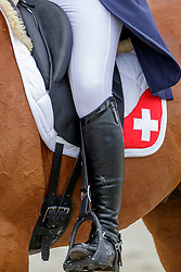 GONFARD Roxane (SUI), Opi de Saint Leo<br /> Luhmühlen - LONGINES FEI Eventing European Championships 2019<br /> Teilprüfung Dressur 2. Teil CCI4*<br /> Dressage CH-EU-CCI4*-L: 2nd part<br /> 29. August 2019<br /> © www.sportfotos-lafrentz.de/Stefan Lafrentz
