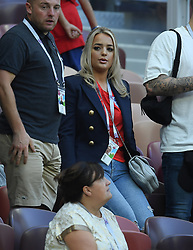 Goalkeeper Jordan Pickford of England's girlfriend Megan Davison during the 2018 FIFA World Cup Russia Semi Final match between England and Croatia at Luzhniki Stadium on July 11, 2018 in Moscow, Russia. Photo by ABACAPRESS.COM
