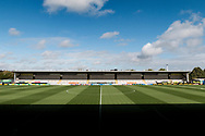 General view of the Pirelli Stadium prior to the EFL Sky Bet Championship match between Burton Albion and Wolverhampton Wanderers at the Pirelli Stadium, Burton upon Trent, England on 30 September 2017. Photo by Richard Holmes.